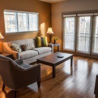 living room – furnished apartment rental in Charlotte