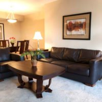 living room – corporate housing in Charlotte